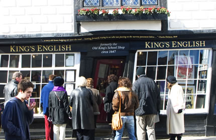 Collectors outside King's English