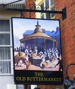 Old Buttermarket Sign